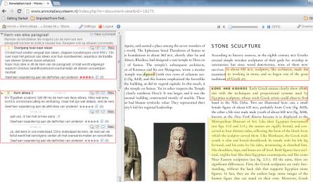 Screenshot Annotatiesysteem